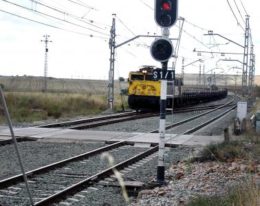 Locking of automatic release in double track (B.L.A.D.) and CTC in route Guadalajara-Ariza