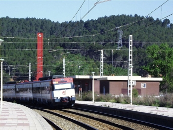 Electronic interlocking and Automatic Block for the single track section Arenys Mar-Maçanet